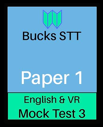 Bucks STT 11+ Paper 1 - Mock 3