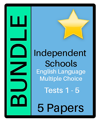 Independent Schools - English Language Multiple Choice - Bundle