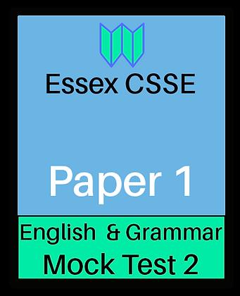 Essex CSSE Paper 1, English & Grammar #2