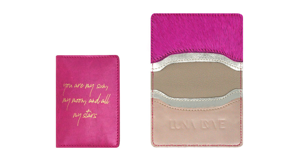 SUN, MOON AND STARS CREDIT CARD HOLDER