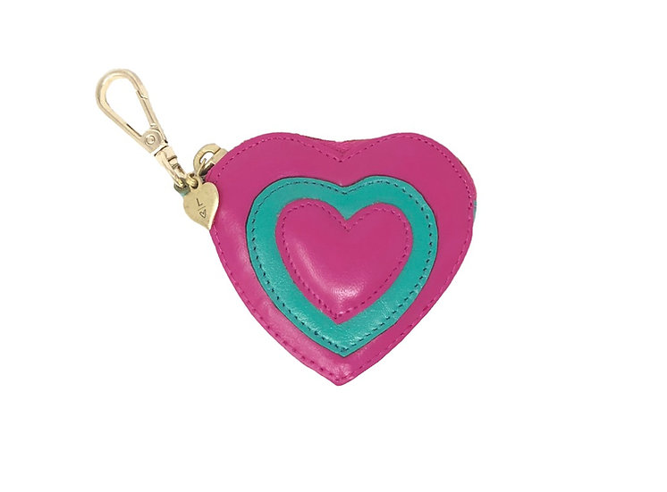 PINK AND GREEN COIN PURSE