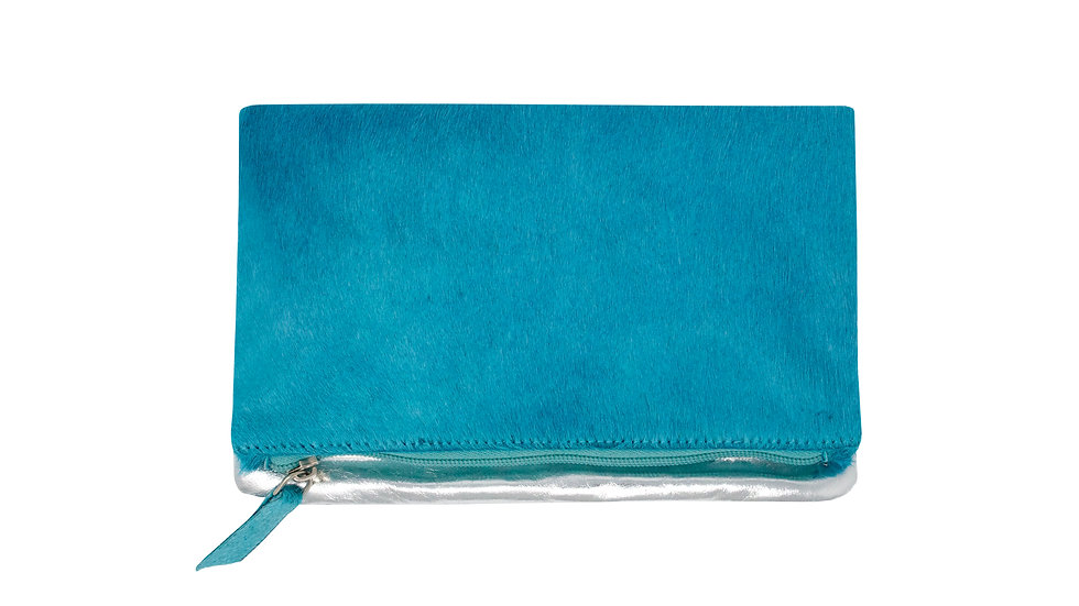 TURQUOISE SMALL CLUTCH BAG