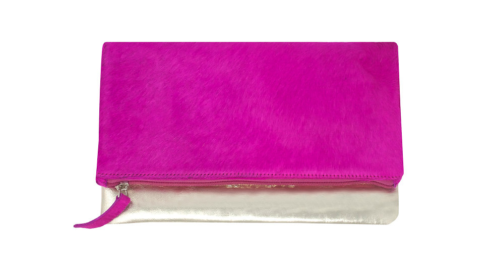 PINK FOLDED CLUTCH BAG
