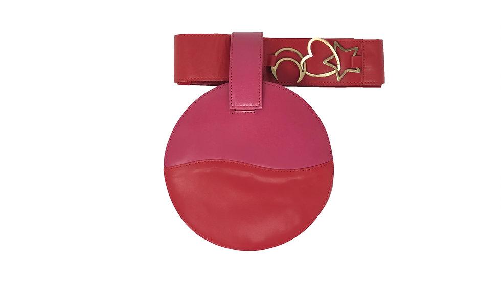 LUCID RED AND PINK BELT BAG