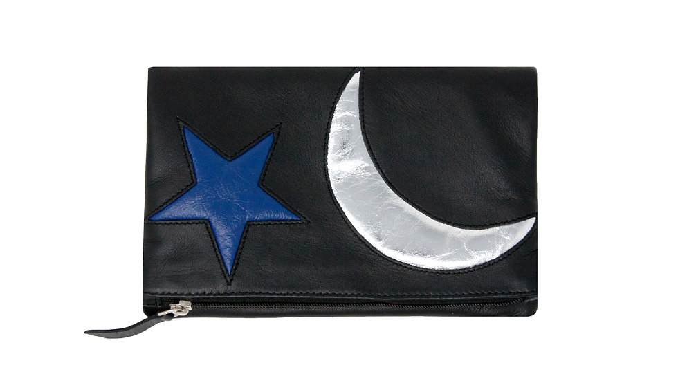 MOON AND STAR SMALL CLUTCH BAG
