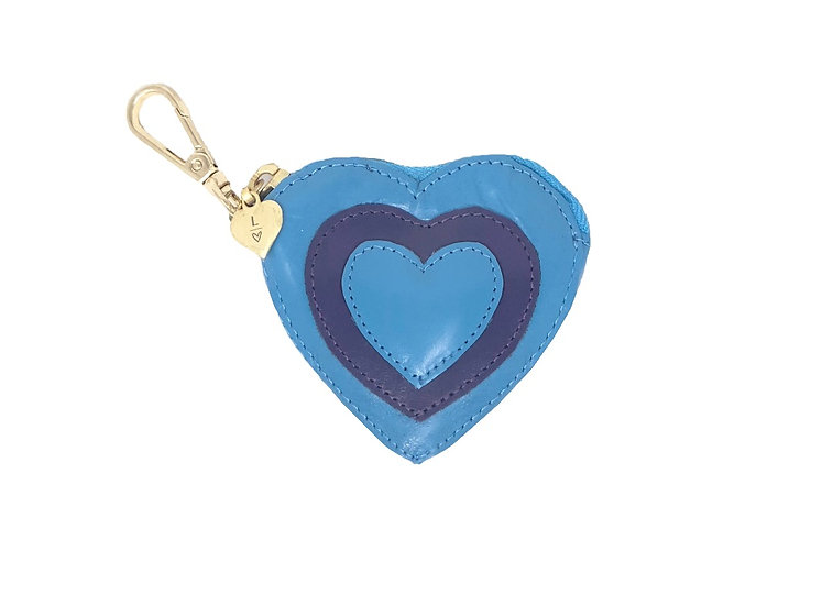 BLUE AND PURPLE COIN PURSE