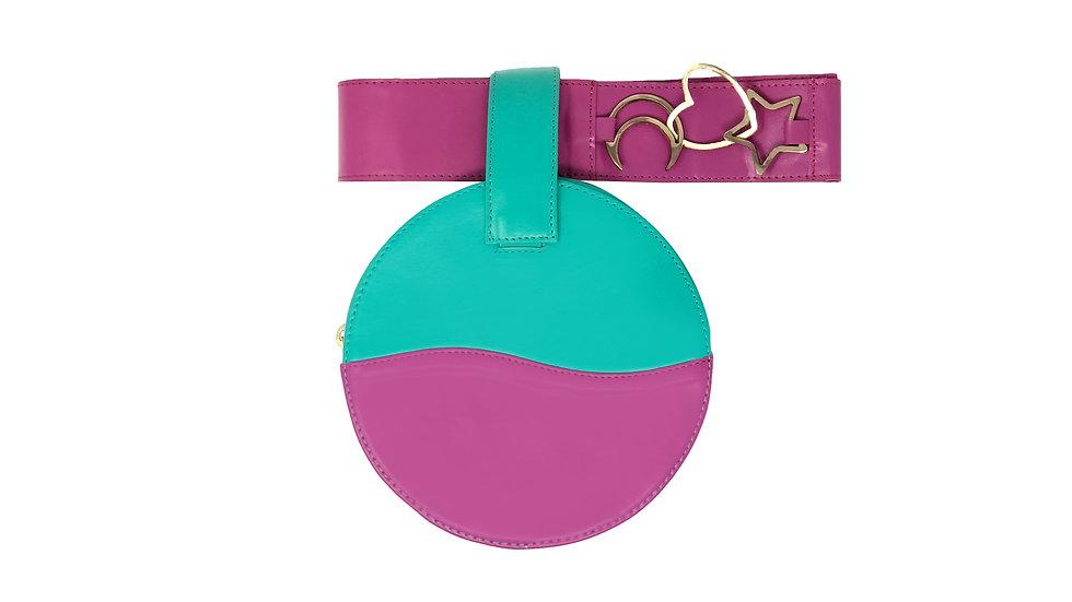 LUCID PINK AND GREEN BELT BAG