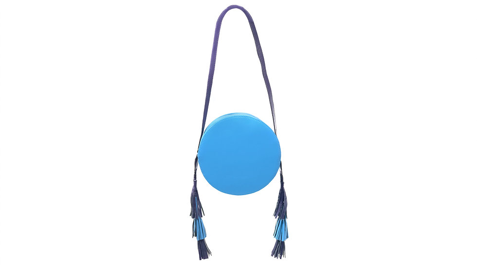 BLUE TALA TASSEL & HEART HANDBAG