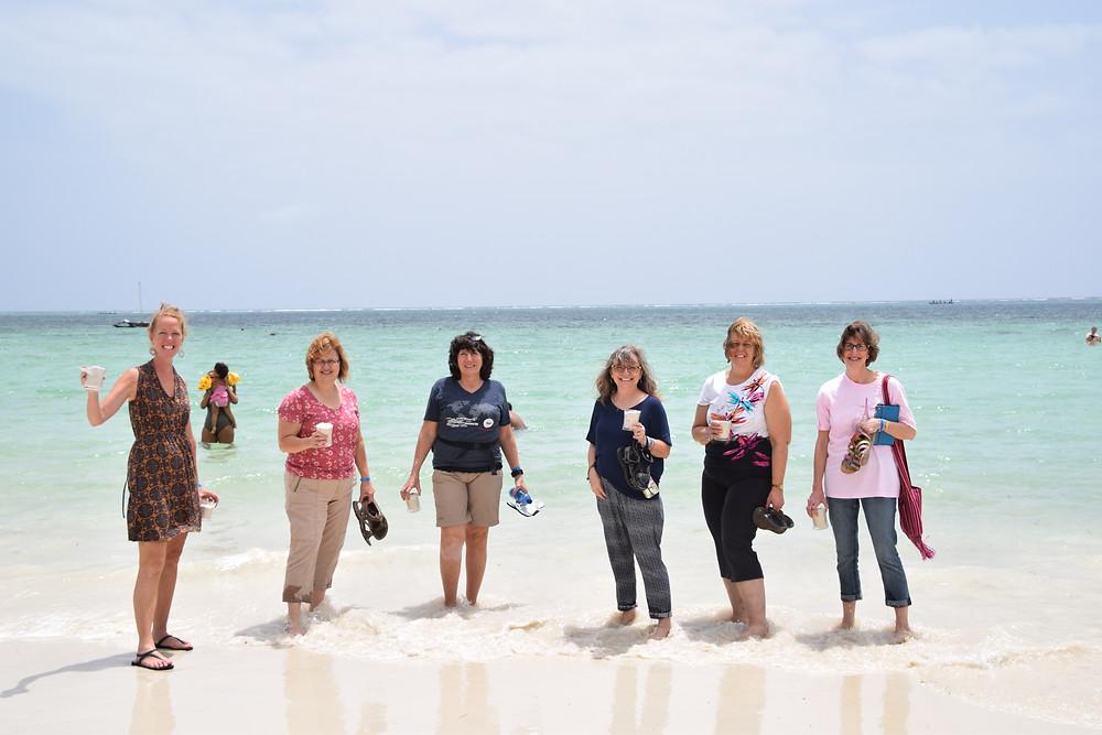 Christina with volunteer retreat staff: Carla, Charlene, Sandi, Pam, and Fai