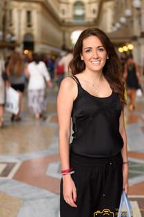 Dulce Lira, en Milán, Italia