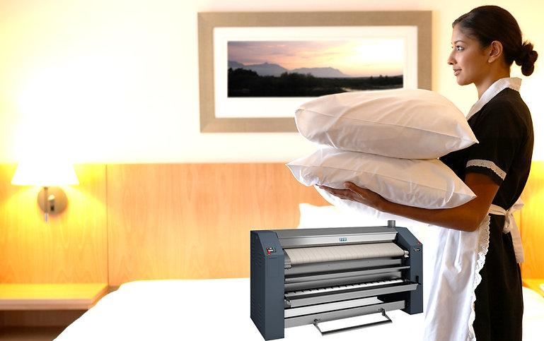 calandra com dobradeiras de lençol teknomak