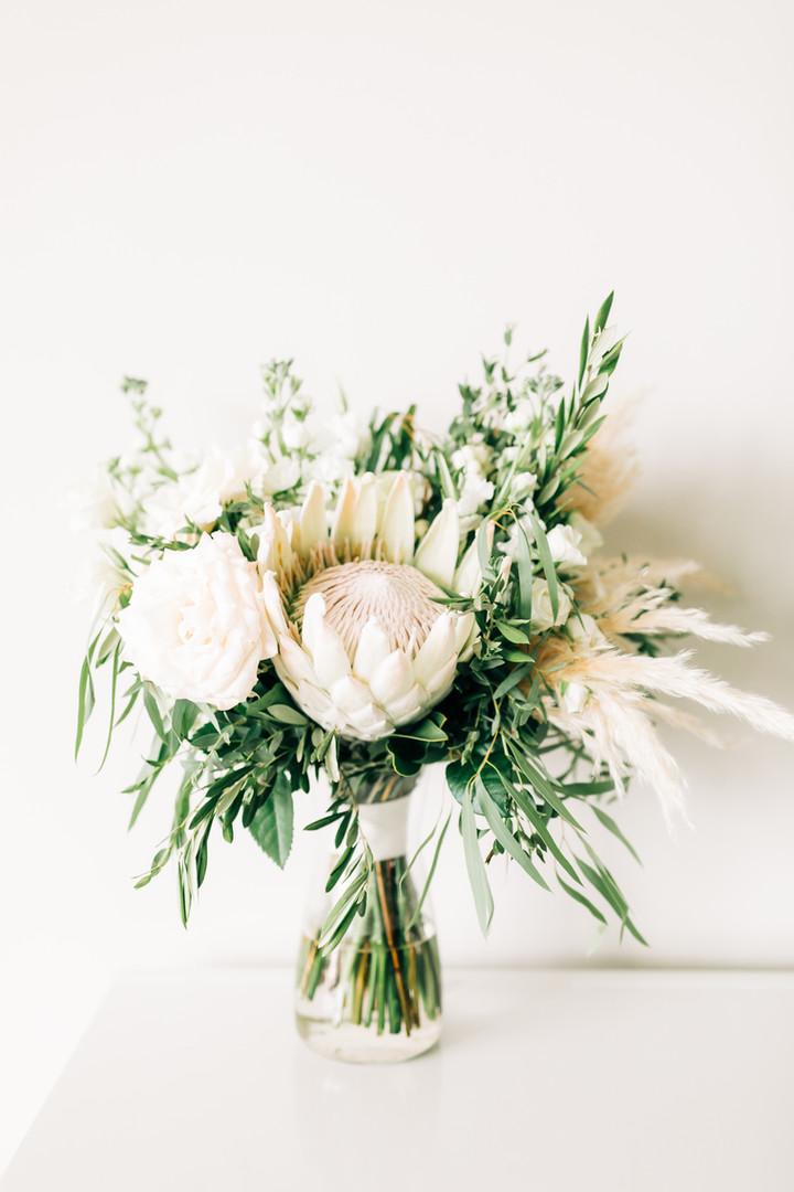 White King Protrea Bridal Bouquet