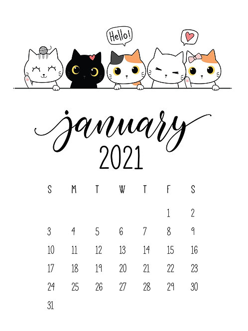 Cattitude Annual Calendar
