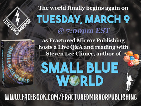 Join us for a discussion and reading with Steven Lee Climer on the release of Small Blue World