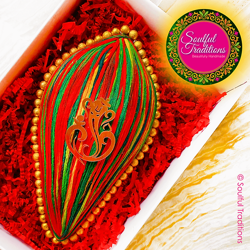 Multicolour Ganesh Nariyal