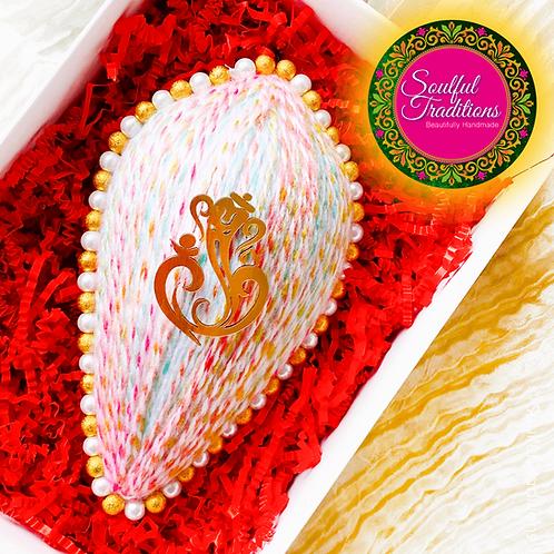 Multi Wool Pastel Nariyal with Ganesh
