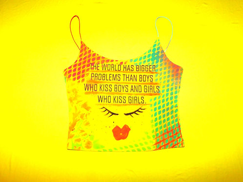 NEON KISSES tank top