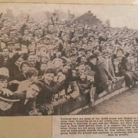 19.8.1961.  Walsall 4 Sunderland 3.