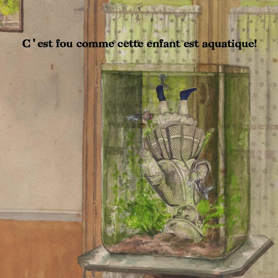 L'enfant aquarium