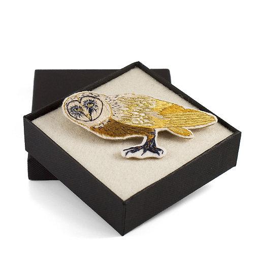 broderie contemporaine broche bijoux chouette hibou oiseau
