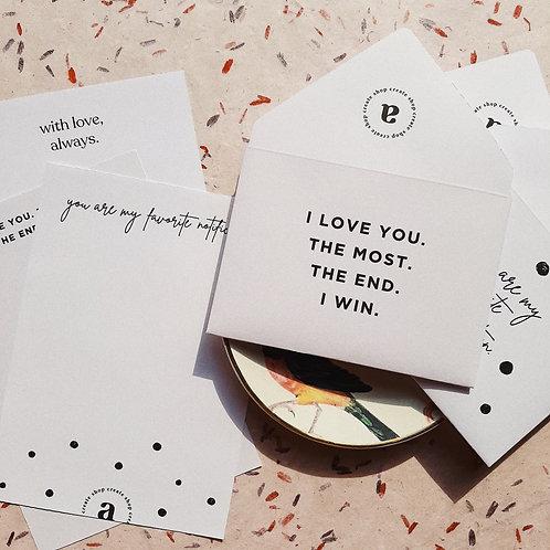 Stationery set love