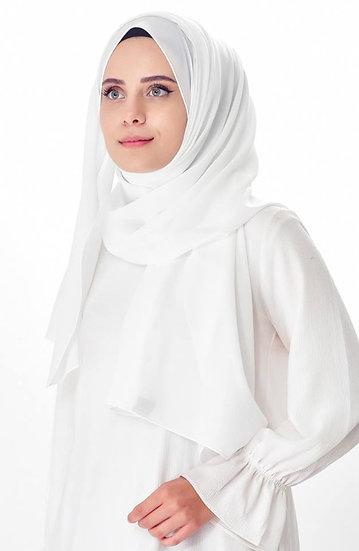 شيفون أبيض - شال تركي