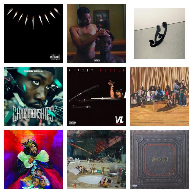 Top 10 Rap/HipHop Albums of 2018
