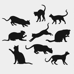 Векторное изображение коллекция кошки силуэт ветор для логотипа и тиснения Chegoods