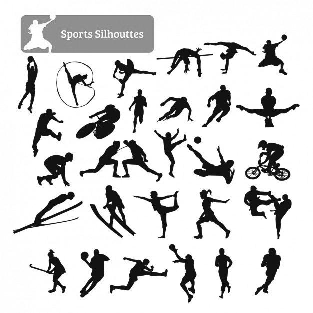 Векторное изображение коллекция силуэт спорт спортсмен вектор для логотипа и тиснения Chegoods