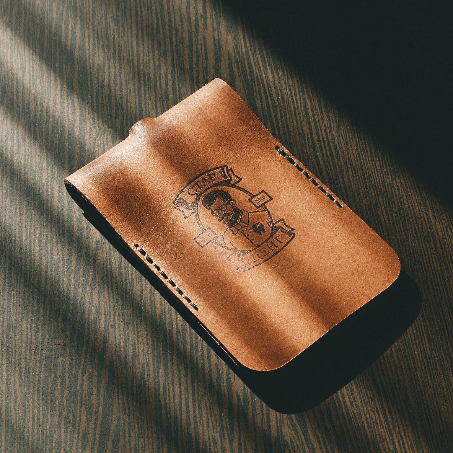 Сувенирная продукция Ключница из натуральной кожи растительного дубления ручной работы прошивка сдел