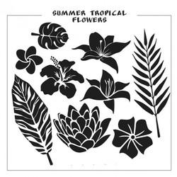 Векторное изображение силуэт тропические цветы флора растения вектор для логотипа Chegoods