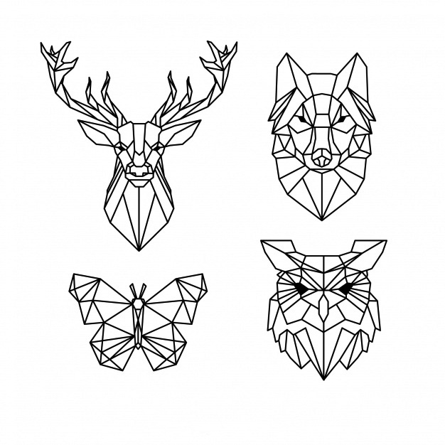 Векторное изображение графика сова олень волк бабочка вектор для логотипа Chegoods