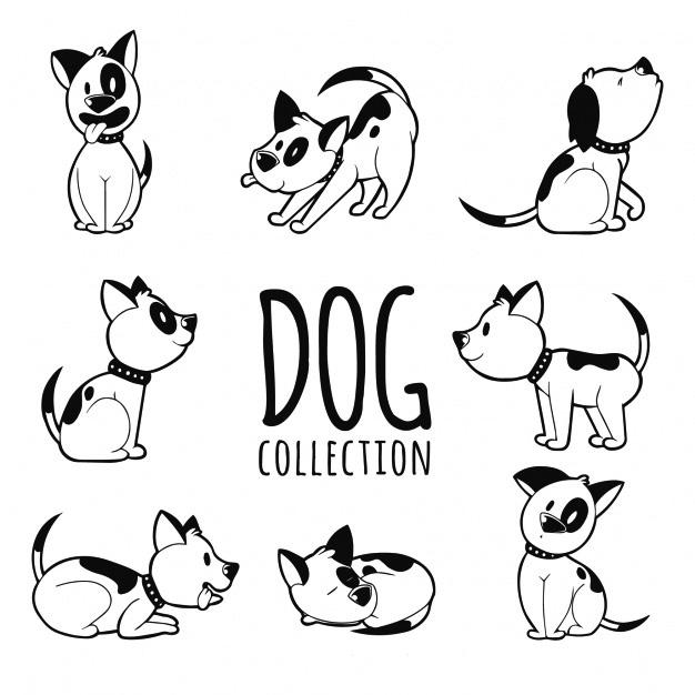 Векторное изображение смешная собака веселый щенок силуэт вектор для логотипа и тиснения Chegoods