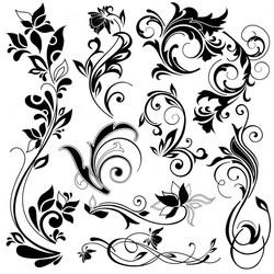 Векторное изображение коллекция красивый орнамент узор вектор для логотипа и тиснения Chegoods
