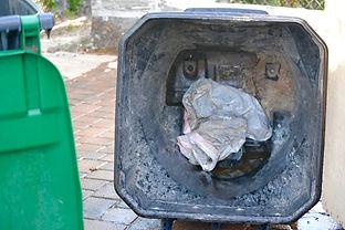 Dirty trash can