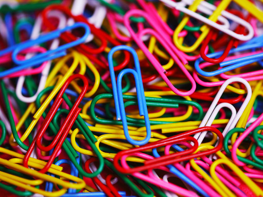 Are you organizing your paperclips?