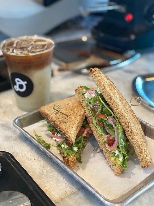 Goat & Avo sandwich