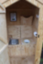 Campsite composting toilets