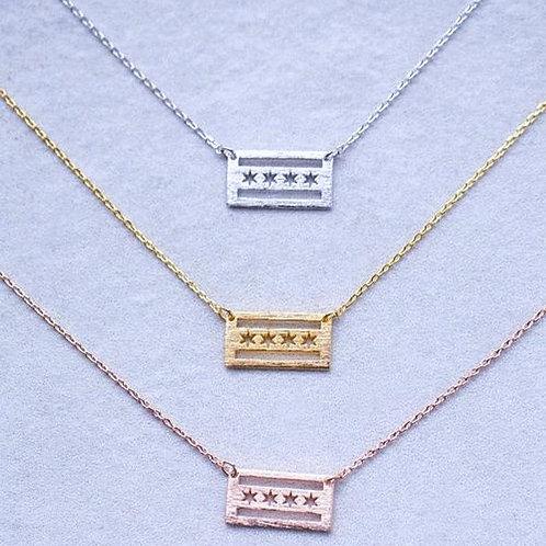 Dainty Chicago Pride Necklace