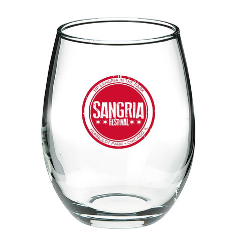 Stamp Logo Glass Tumbler