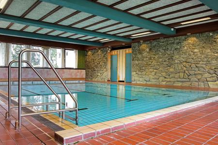 The swimming pool we got here at Vågå Hotel