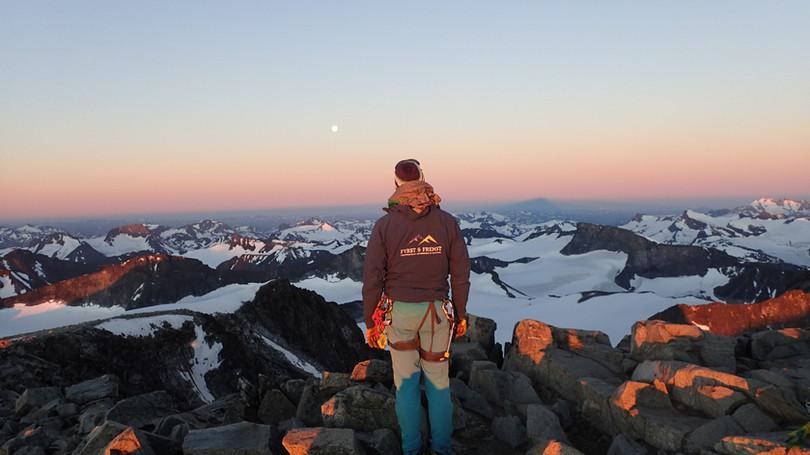 Sunrise on Galdhøpiggen, Norway´s highest peak