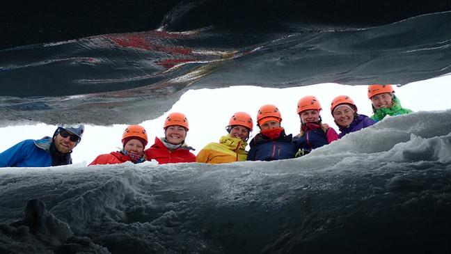 Glacier-course on Bøverbreen