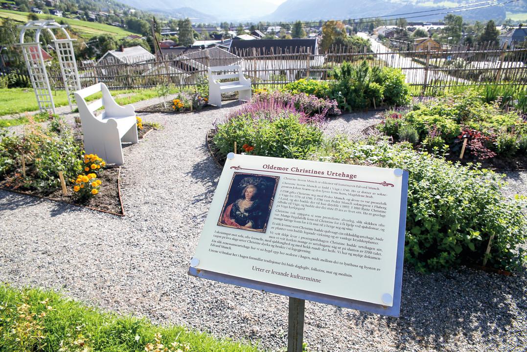 Herb garden in Ullinsvin