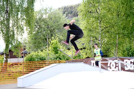 Skatepark i Vågå. 10 min fra Vågå hotell. Foto: Roar Strand