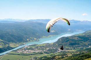 Paragliding over Vågåmo