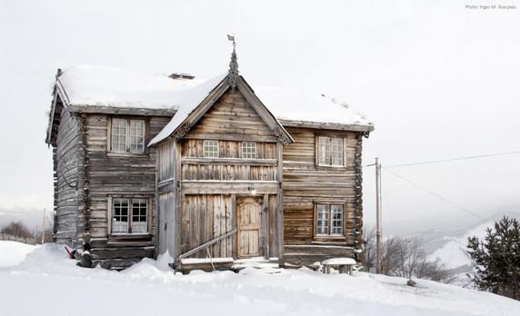Gammel bygning i Vågå