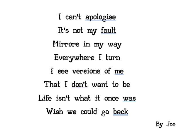 Joe's lyrics