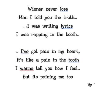 Vital's lyrics