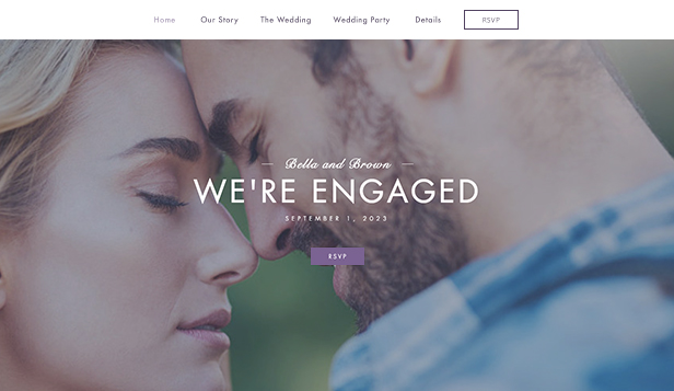 Events website templates – Engagement Site